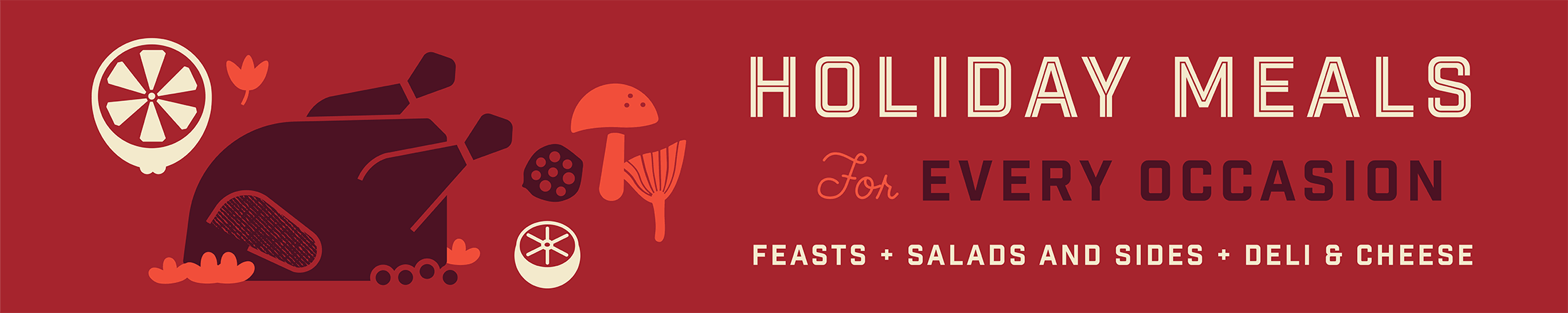 Gus's Market 2019 Holiday Meals Banner